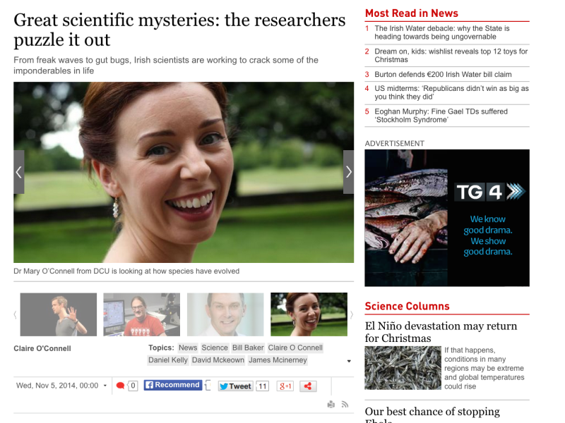 Irish times article on fundamental science